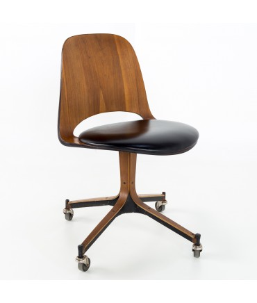 Plycraft Mid Century Walnut Desk Chair