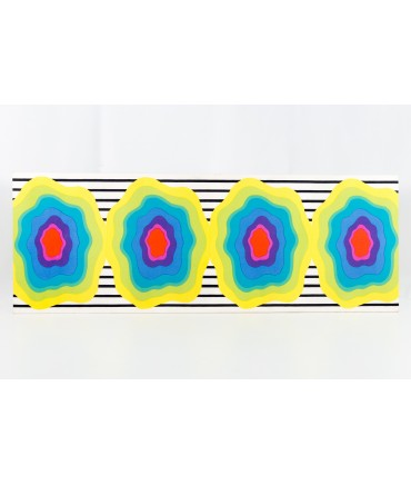 Marimekko 10 foot Mid Century Modern Wall Art Fabric on Frame