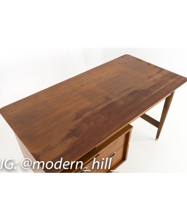 Mainline by Hooker Single Sided Mid Century Floating Display Desk