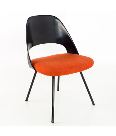 Early Saarinen for Knoll Plastic Back Armless Executive Side Desk Chair