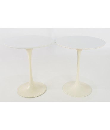 Eero Saarinen for Knoll Mid Century Modern Round Tulip Side End Tables