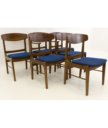 Stanley Cats Eye Mid Century Modern Dining Chairs - Set of 6