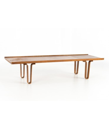 Edward Wormley for Dunbar Walnut Mid Century Coffee Table Bench