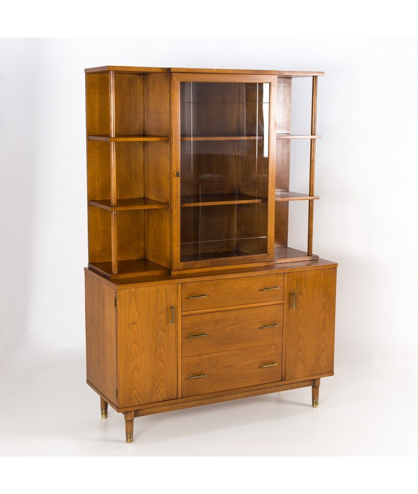 Mid Century Drexel China Cabinet Buffet