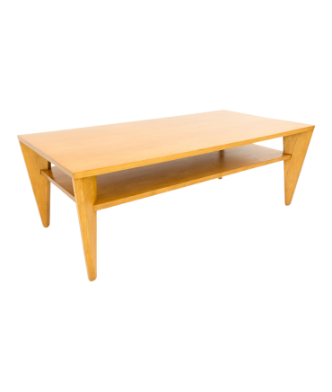 Russel Wright for Conant Ball Mid Century Birch Blonde Coffee Table