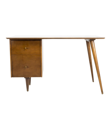 Paul McCobb for Planner Group Mid Century Tobacco Finish Single Sided Desk
