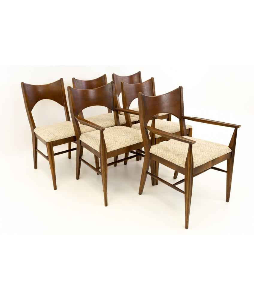 Stupendous Broyhill Saga Mid Century Walnut Paul Mccobb Style Dining Chairs Set Of 6 Ibusinesslaw Wood Chair Design Ideas Ibusinesslaworg