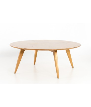 John Van Koert for Drexel Profile Mid Century Round Coffee Table