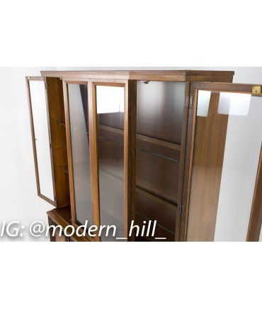 Garrison Mid Century Walnut China Cabinet