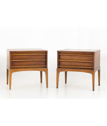 Lane Rhythm Paul McCobb Style Mid Century Nightstands - Matching Pair