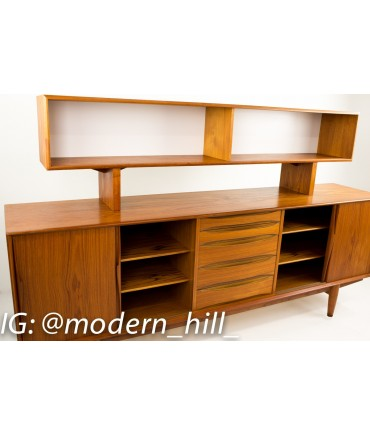 Dyrlund Teak Sideboard Credenza w/Optional Hutch