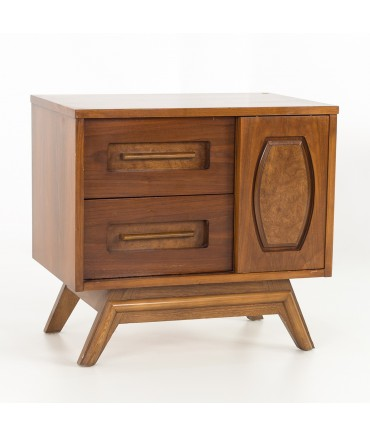 Young Manufacturing Mid Century Walnut Nightstand