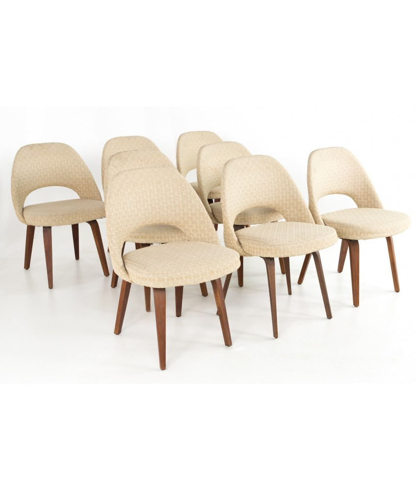 Eero Saarinen For Knoll Mid Century Modern Armless Executive Dining Or Desk Chairs Set Of 8