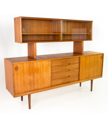 Fredrik Kayser for Gustav Bahus Mid Century Sideboard Credenza Buffet and Hutch