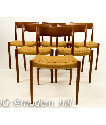 Niels Moller No 77 Caned Dining Chair Set of 6