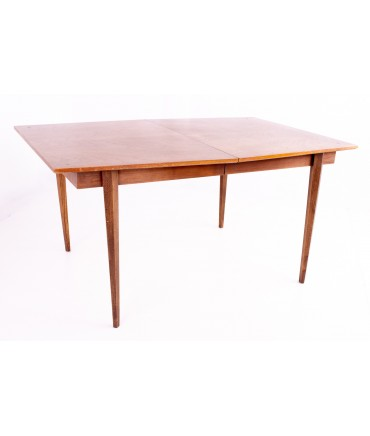 Albert Parvin for American of Martinsville Diamond Mid Century Dining Table (1 leaf)