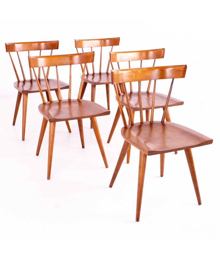 Paul Mccobb For Planner Group Mid Century Maple Dining Chairs Set Of 5