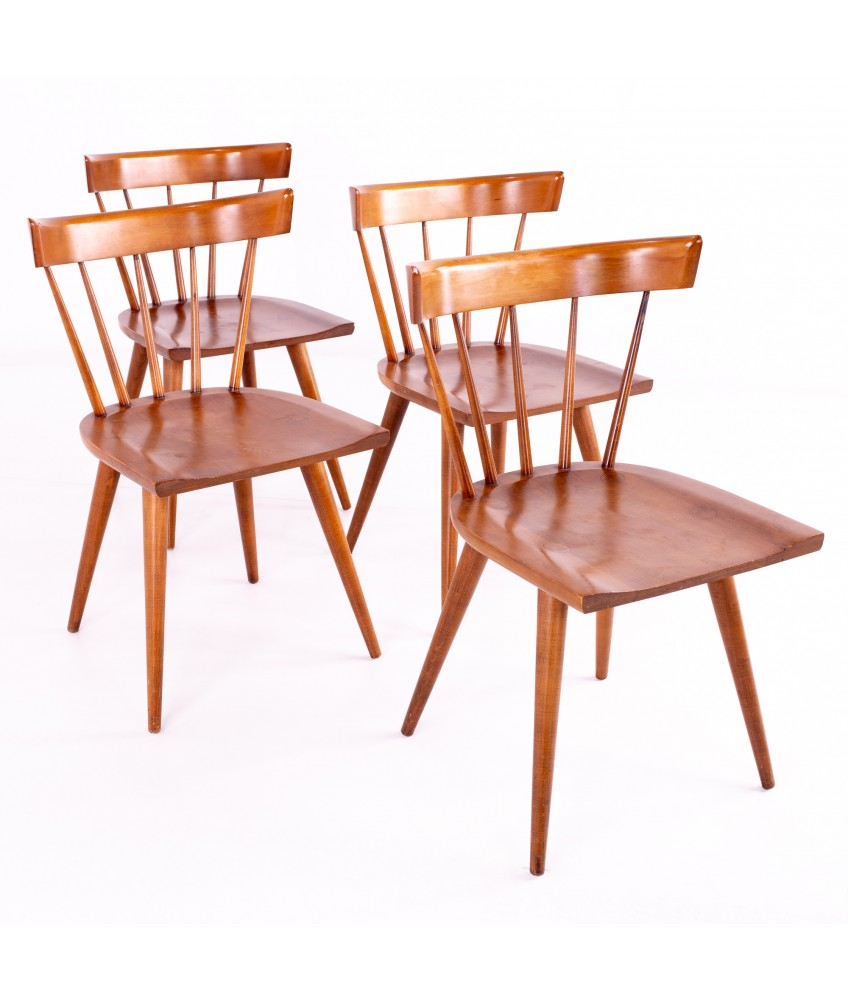 Paul Mccobb For Planner Group Mid Century Maple Dining Chairs Set Of 4