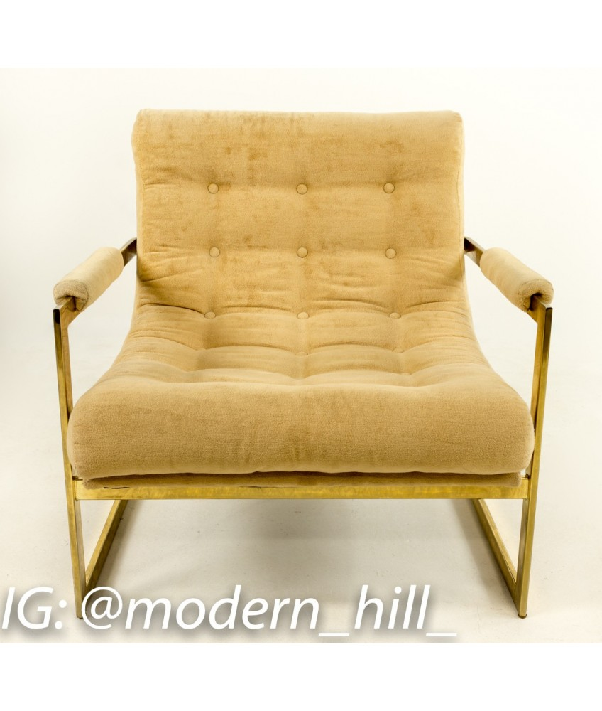 Be The First To Write Your Review! Brass Milo Baughman Style Scoop Chair