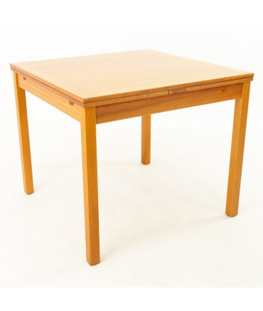 Ansager Mobler Mid Century Square Expanding Hidden Leaf Dining Table