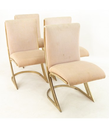 DIA Mid Century Brass Z Dining Chairs - Set of 4