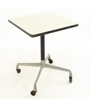 Charles and Ray Eames for Herman Miller Aluminum Group Mid Century Rolling Side End Table