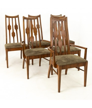 Consolidated Furniture Mid Century Walnut Dining Chairs - Set of 6