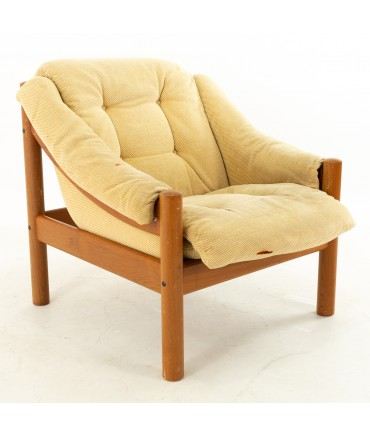 Domino Mobler Mid Century Teak Upholstered Single Armchair