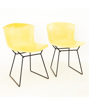 Harry Bertoia for Knoll Mid Century Fiberglass Occasional Chairs - Pair