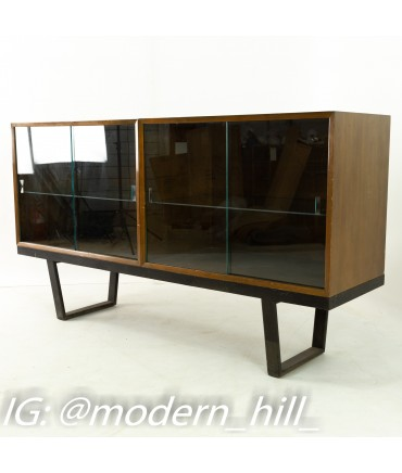 George Nelson for Herman Miller Mid Century Walnut Bookcase Hutch on Bench