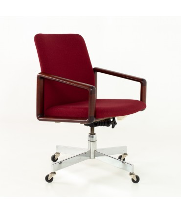 Dyrlund Rosewood & Fabric Upholstered Office Chair