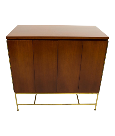Paul McCobb for Calvin Walnut and Brass Base Mid-Century Modern Sideboard