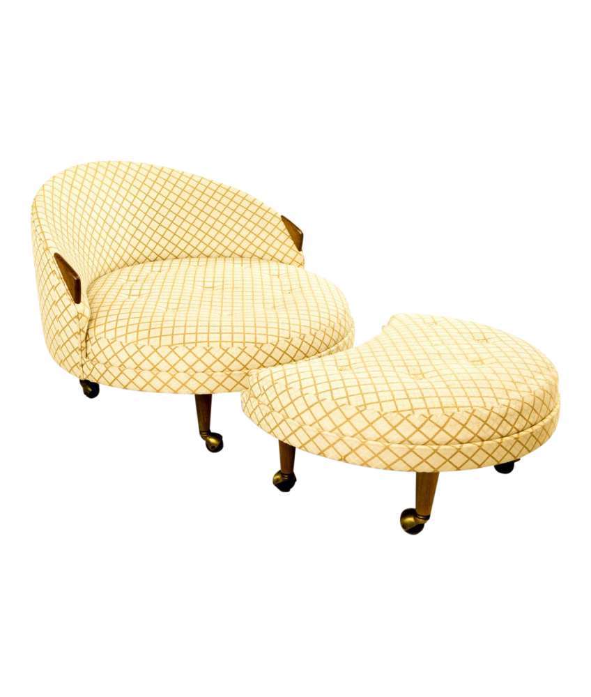 Adrian Pearsall Havana Chair and Ottoman