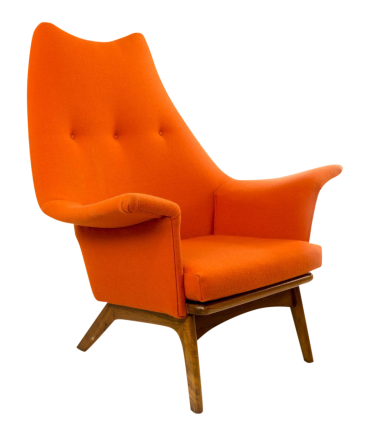 Adrian Pearsall 1611-c Wingback Lounge Chair