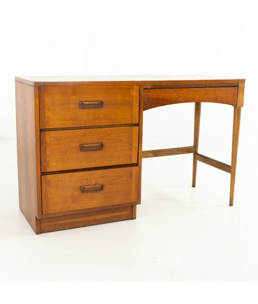 Andre Bus for Lane Acclaim Mid Century Dovetailed Walnut and Formica Single Sided Desk