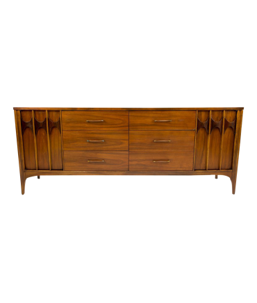 Kent Coffey Perspecta Walnut and Rosewood Rare 12 Drawer Dresser Credenza