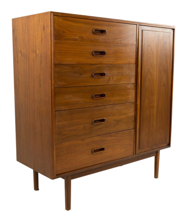 Jack Cartwright for Founders Armoire Gentlemans Chest Highboy Dresser