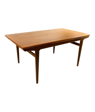 Niels Moller MidCentury Modern Danish Teak Dining Table - Teak dining table with leaf