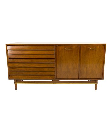 Merton Gershun American of Martinsville Louvered Dresser Credenza