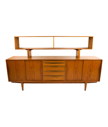 Dyrlund Teak Sideboard Credenza with Optional Hutch