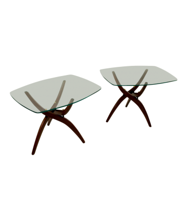 Forest Wilson End Tables in Style of Adrian Pearsall