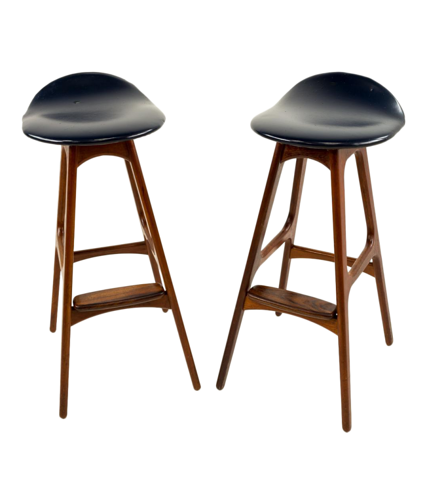 Fantastic Erik Buck Mid Century Modern Rosewood Bar Stools Set Of 2 Unemploymentrelief Wooden Chair Designs For Living Room Unemploymentrelieforg