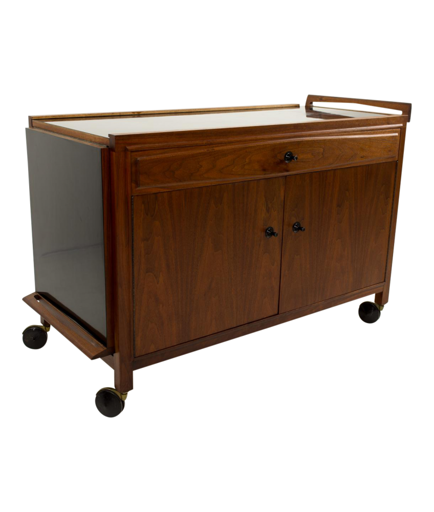 John Kapel for Glenn of California Drop Leaf Expandable Bar Cart