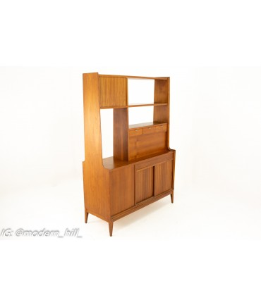 Arthur Umanoff for Cavalier Mid Century Double Sided Room Divider Bar Display Shelving