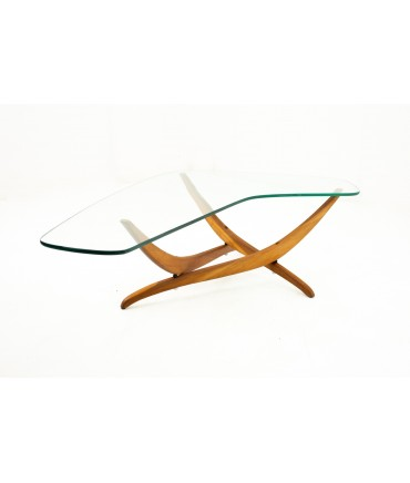 Forest Wilson Mid Century Glass Top Coffee Table