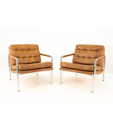 Jack Cartwright for Founders Mid Century Lounge Chairs - Pair