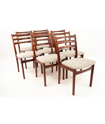 Skovby Mid Century Rosewood Dining Chairs - Set of 8