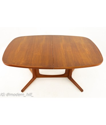 Gudme Mobelfabrik Mid Century Dining Table with 2 Leaves
