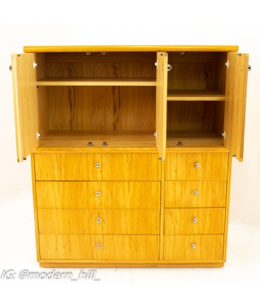 Jack Cartwright for Founders Mid Century 10 Drawer Armoire Gentlemans Chest