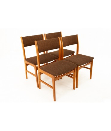 Benny Linden Style Mid Century Dining Chairs - Set of 4
